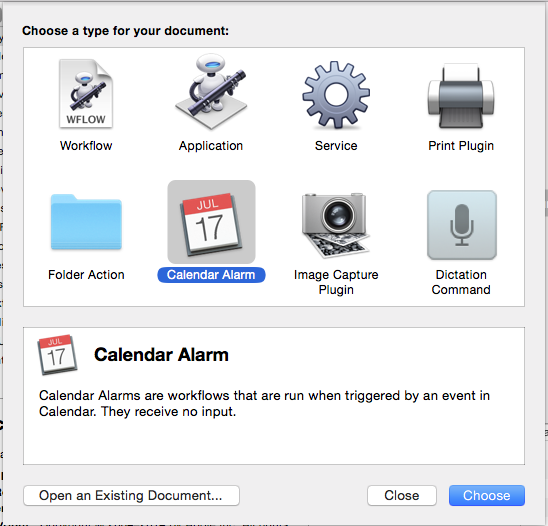 Create Focus workflows in Automator