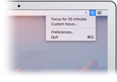Focus is a Mac menubar app that lets you block distractions with 1-click