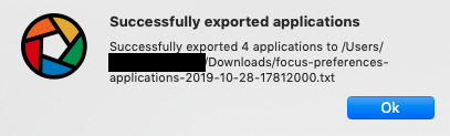 successfully exported applications