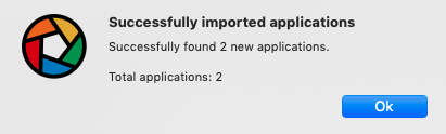 successfully imported applications
