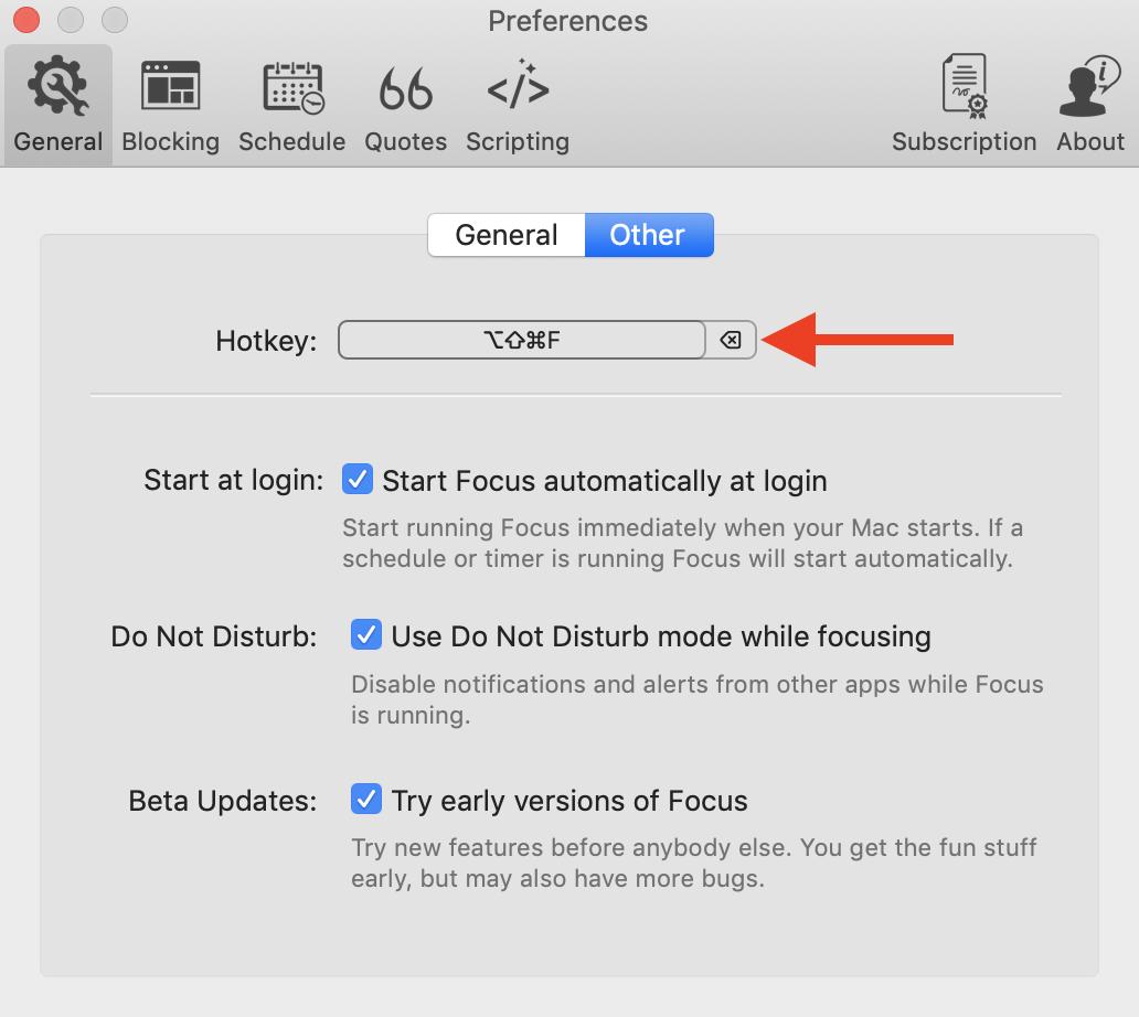 deleting the default keyboard shortcut