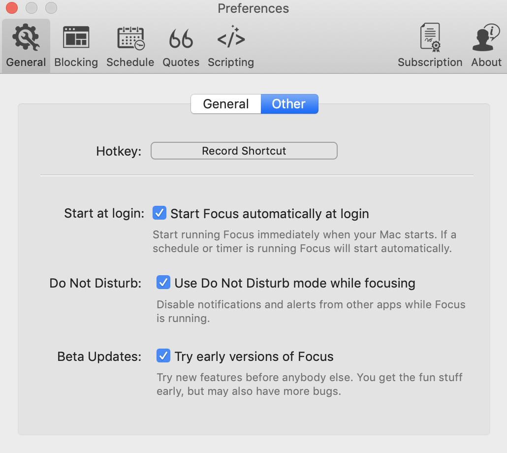 default hotkey replaced with 'record shortcut'