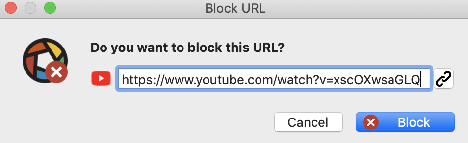 do you want to block this URL - full version
